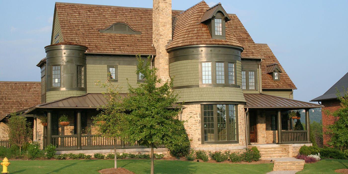 Classic Resort Home Cedar Valley Manufacturing Cedar